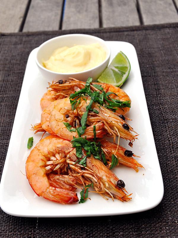 bbq shrimp and aioli