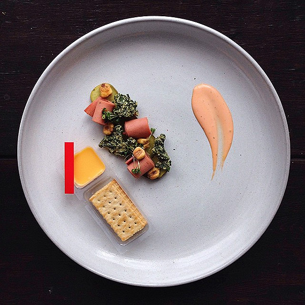 plated junk food