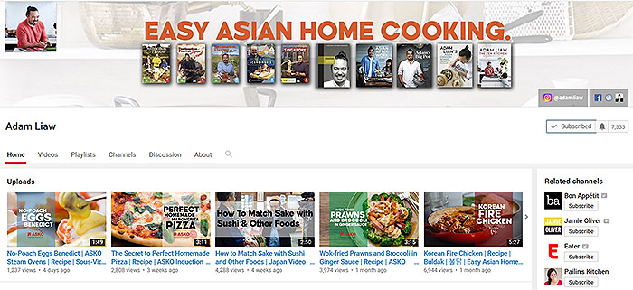 Adam Liaw on Youtube